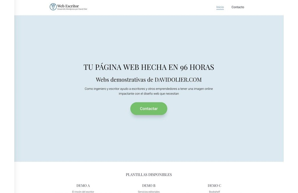 WebEscritor de David Olier